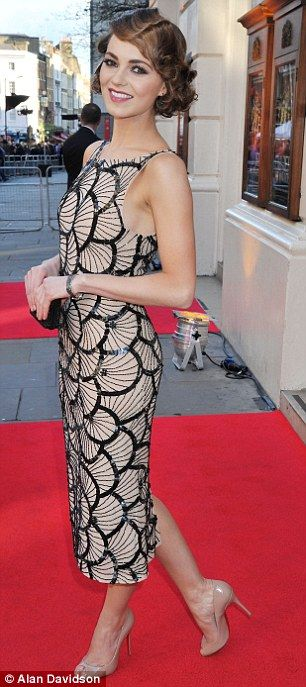 Kara Tointon in a Twenties inspired dress at the Laurence Olivier Awards