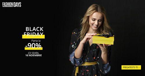 Trebuia sa fii printre primii care afla marea veste: Black Friday, cel mai asteptat eveniment de shopping al anului, incepe la Fashion Days cu o zi mai dev