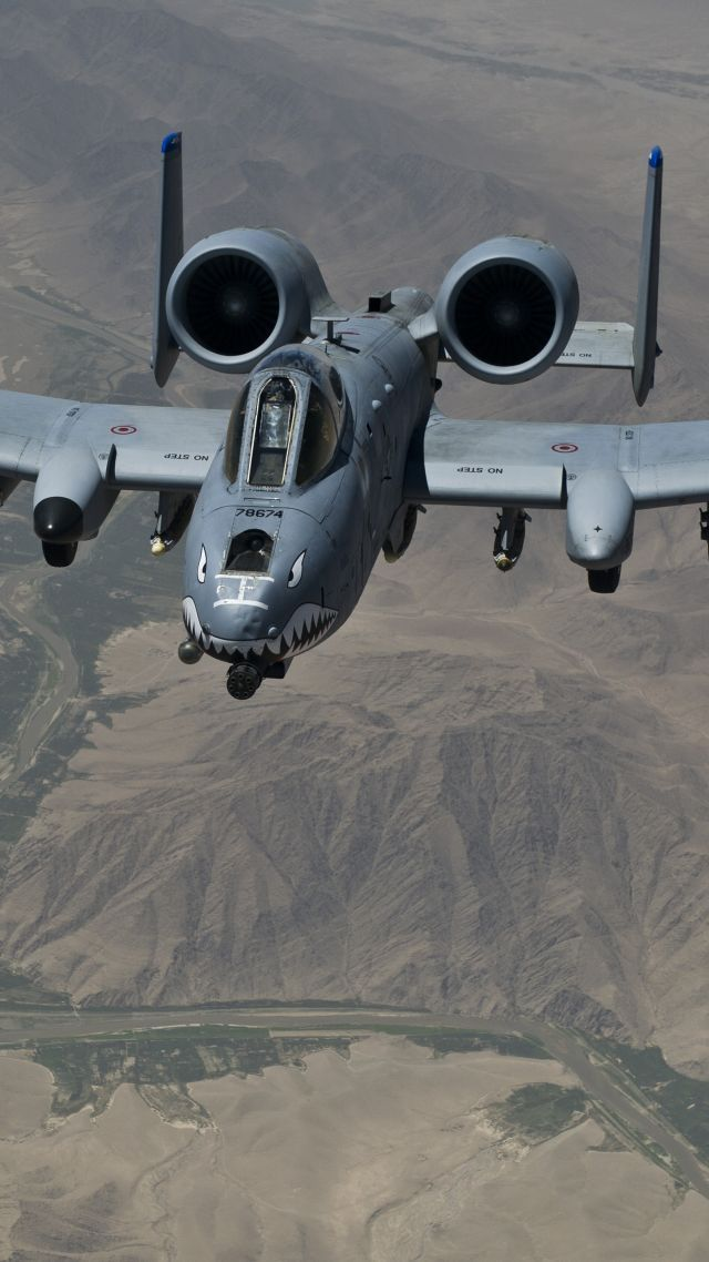 A-10 Thunderbolt II, US Army, U.S. Air Force, aircraft. I love this thing. I love it's name, it's nickname, it's main gun, what it can do, how it looks, and I love what the military pilots have done with it.