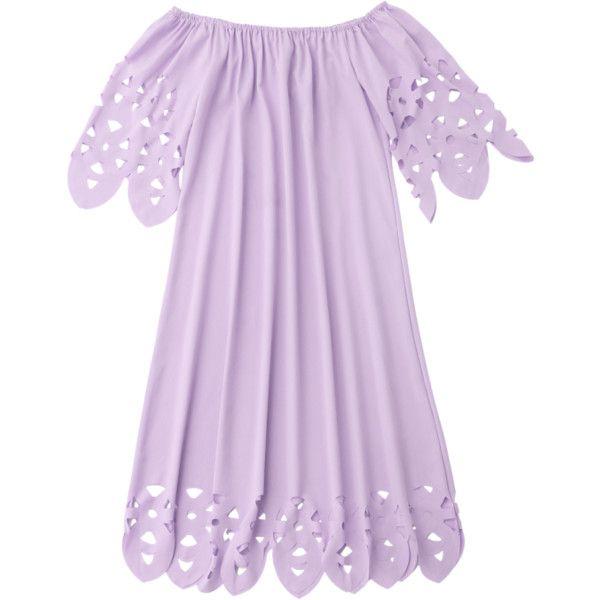 Off The Shoulder Flared Dress Light Purple ($15) ❤ liked on Polyvore featuring dresses, flared hem dress, purple dresses, lavender purple dress, off the shoulder dress and flare dresses