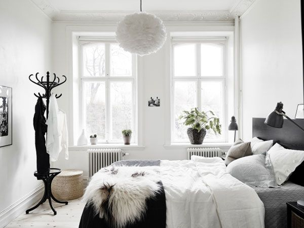 bedroom | A Luminous and Stylish Family Home in Sweden - NordicDesign