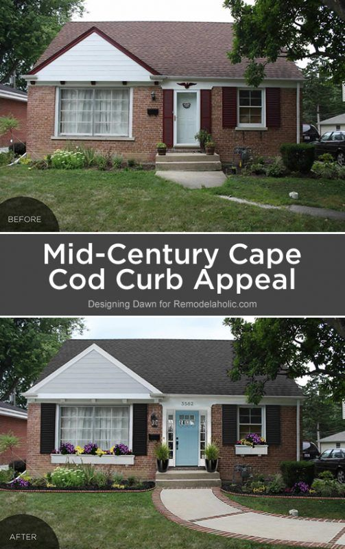 Adding curb appeal the blank slate brick ranch exterior - How to clean house exterior before painting ...