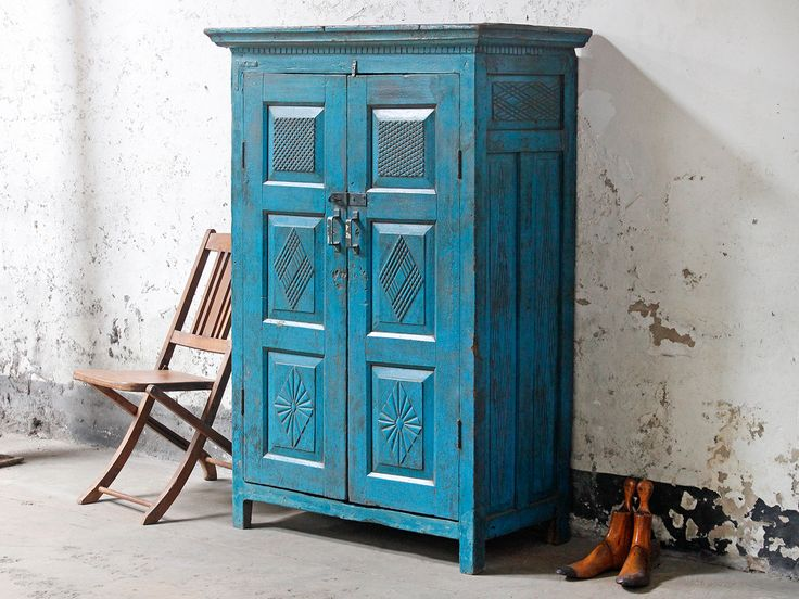 Art Deco Blue Wardrobe from Scaramanga's Vintage Furniture Collection