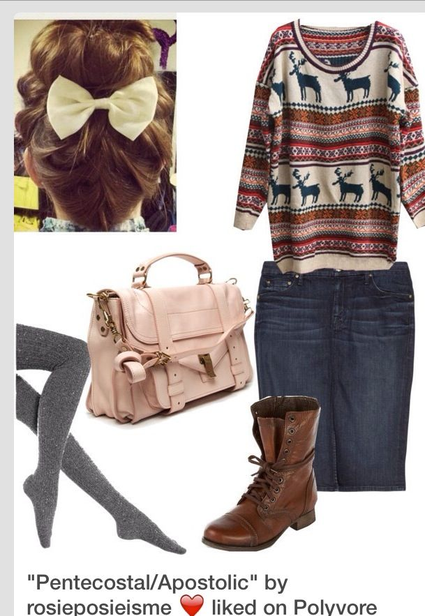 I honestly hate the bow and purse but love this sweater