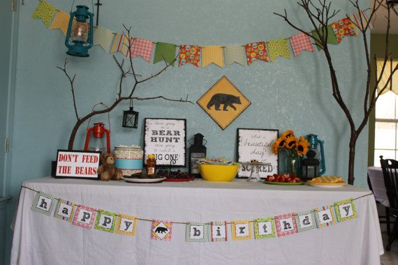 We Are Going on a Bear Hunt party decorations by onecraftyfoxx, $55.00
