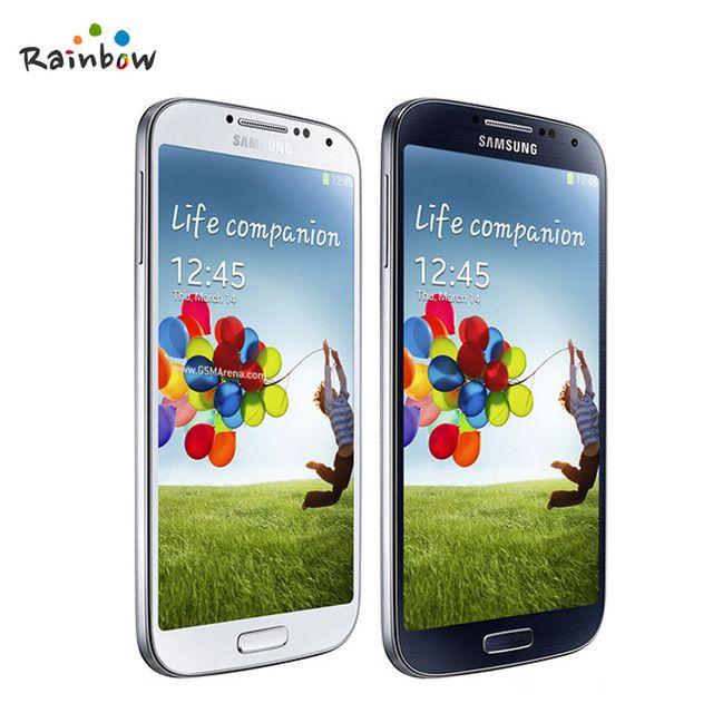"""100% Оригинал Samsung Galaxy S4 i9500 i9505 Мобильный Телефон 13MP Камера 2 ГБ RAM 16 ГБ ROM 5.0 """"дюймов 1920X1080 Отремонтированы Сотовый Телефон"""