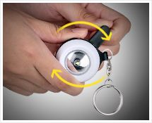 Dynamo flashlight, Mini Keychain, Mini flashlight, Mini torch,Gift light,Gift keychain Function & Feature:  1. Cranking for power generation. 2. Controlled by slide switch, long lifespan. 3. Lighting, used as a key chain. 4. Handsome appearance, mini size and convenient to use.