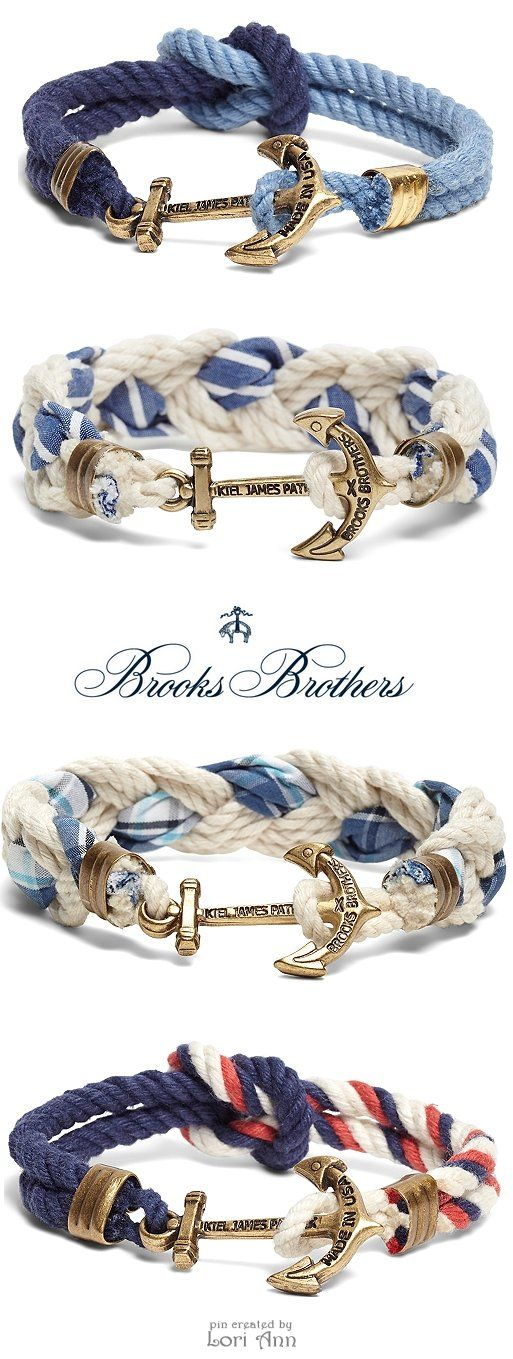 Brooks Brothers Kiel James Patrick Bracelets | #nautical #fashion