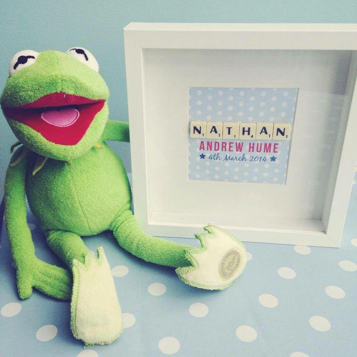 Personalised name scrabble frame https://www.etsy.com/uk/listing/182984359/personalised-baby-scrabble-frame?ref=listing-shop-header-4
