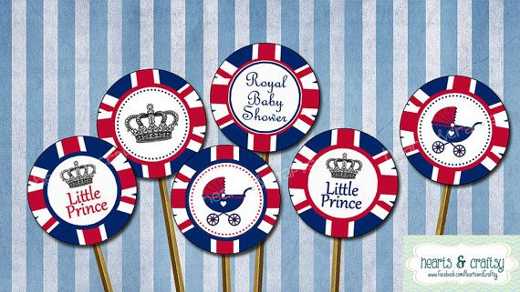 Little Prince Royal Baby Shower / UK British by HeartsandCraftsy, $4.50