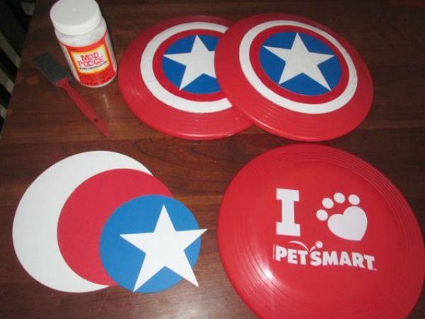 15 Captain America: Civil War Party Ideas -Captain America shield Frisbee, party games