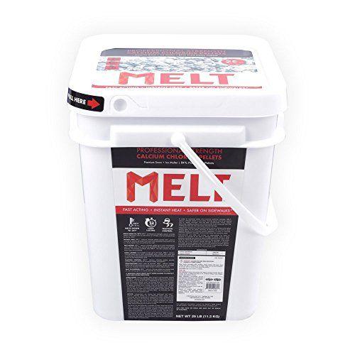 Snow Joe MELT25CCP-BKT 25-lb Flip-Top Bucket with Scoop Professional Strength Calcium Chloride Pellet Ice Melt http://ift.tt/2l1zlmg