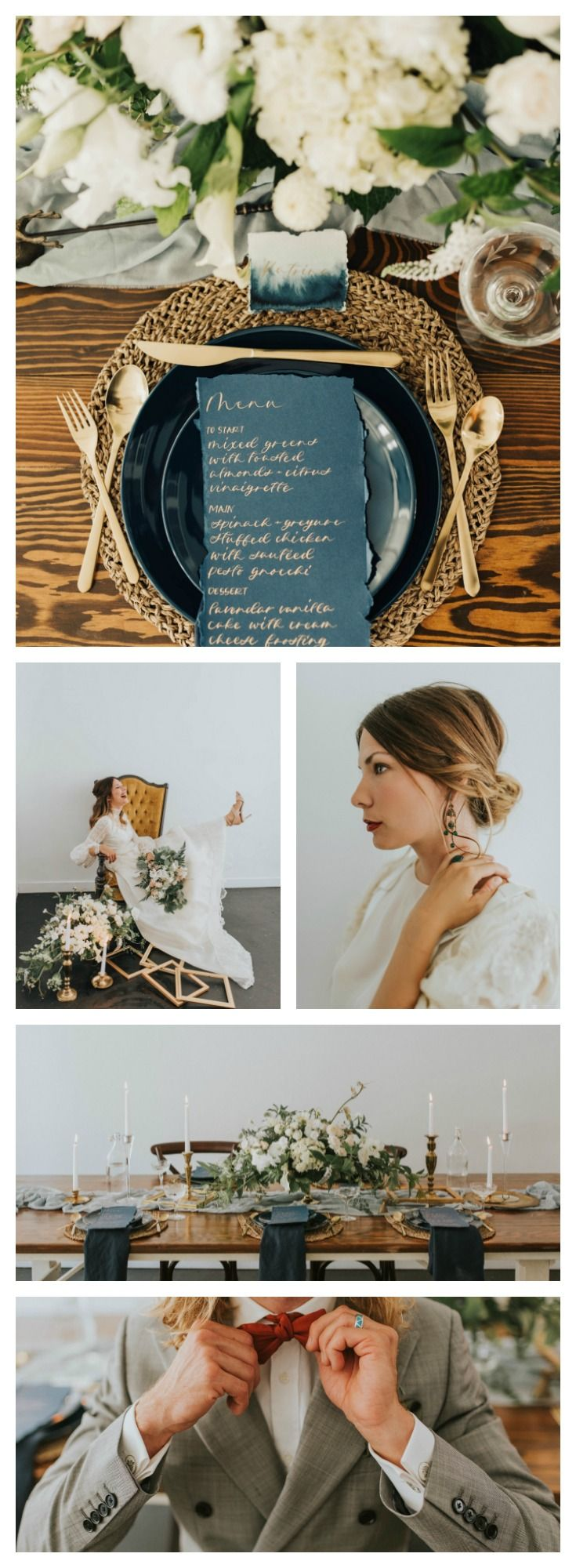 Navy and Gold Vintage Detailed Wedding Inspiration   #vintagewedding #navyandgold #wedding #weddinginspiration #weddingdecor #weddingideas #tabletop #inspirationshoot #fallwedding #bluewedding #navywedding