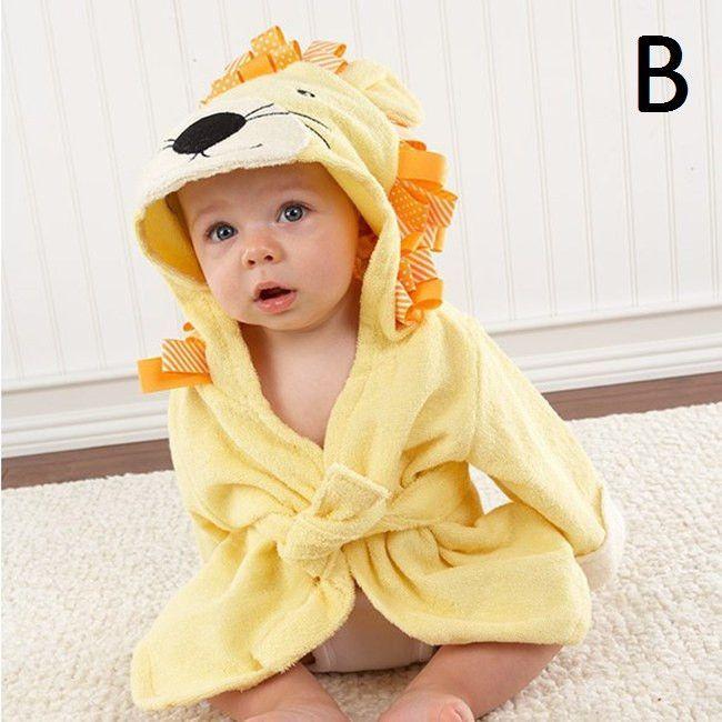 LittleSpring Hot! Retail boy girl Animal Baby bathrobe/baby hooded bath towel/kids bath terry children infant bathing/baby robe