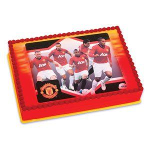 Manchester United Soccer Team Edible Image Icing Art Cake Topper / 1 count -- Discover this special product, click the image : baking decorations