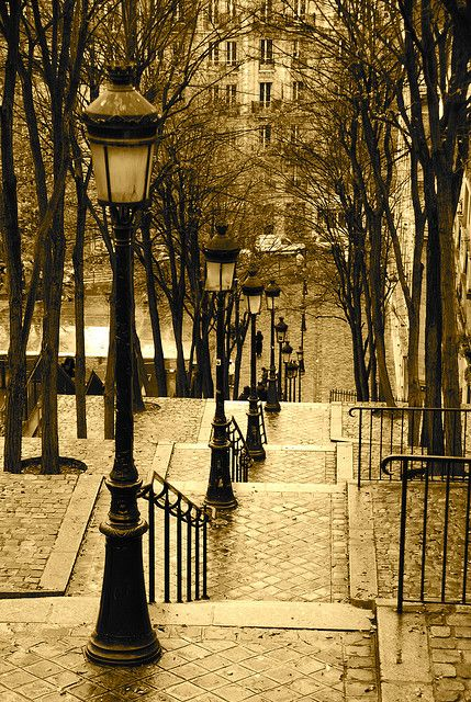 Paris---Montmartre: Walks, Stairs, Paris France Photos, Beautiful, Travel, Places, Lanterns, Photography, Montmartre Paris