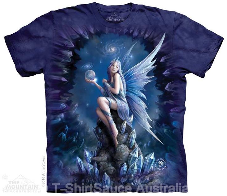 Stargaze Fairy Adults T-Shirt by Anne Stokes : The Mountain - 2017 Collection : T-Shirtsauce Australia: The Mountain T-Shirts
