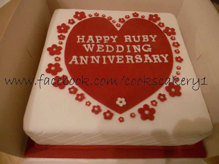 Unique Ruby Wedding Anniversary Gifts: 25+ Best Ruby Wedding Cake Ideas On Pinterest