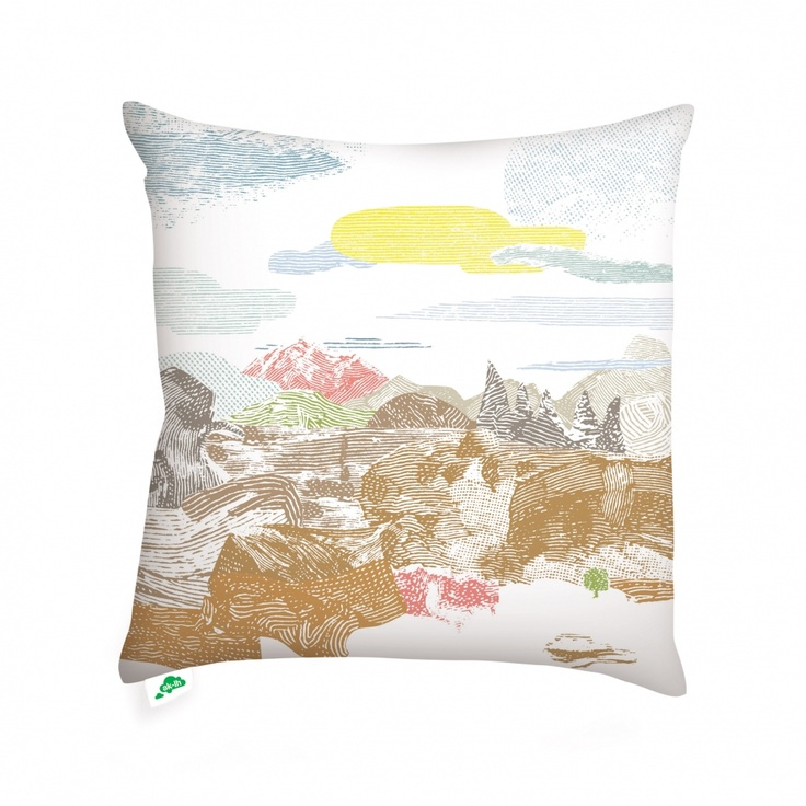Cushion Cover /// Landscape 2 /// 50 x 50: Small Things, Pastel Landscape2, Landscape Aprons, Cushion Covers, Landscape Teas, Cushions Covers, Landscapes, Landscape Cushions, Pillows