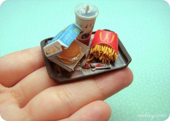 Miniature Mcdonald's meal - on my hand.
