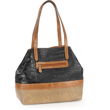 George Women's Murphy Dome Colorblock Handbag, Black