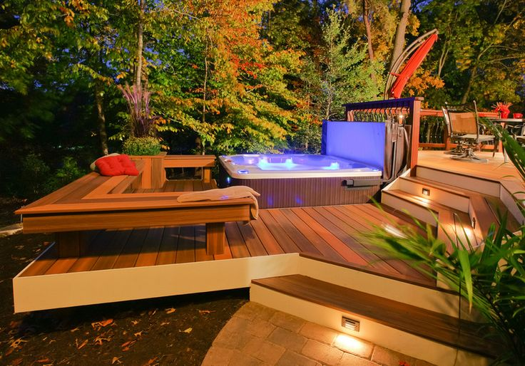 17 best images about hot tubs on pinterest caves gifu and rooftop pool - Hot tub cover lift with and without gas shocks ...