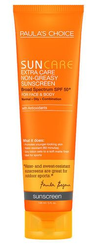 Paula's Choice Non-Greasy Sunscreen SPF 50 ($14, originally $16) is formulated without titanium dioxide, which could cause a breakout if your skin is adverse to mineral sunscreens and makeup.