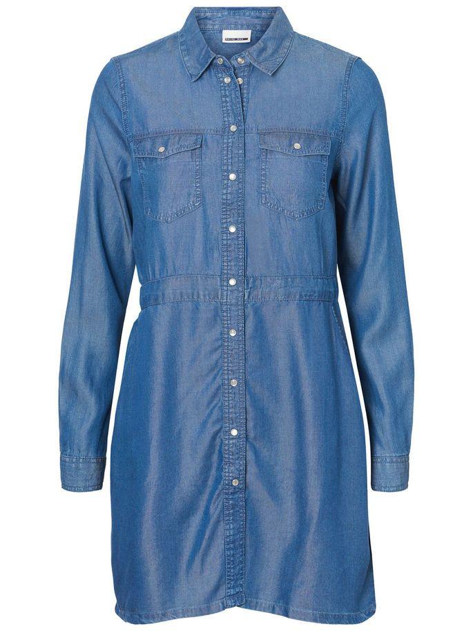 Kjole And Noisy Shirt Blue Skjorte Denim May Dresses 11HZaSEO