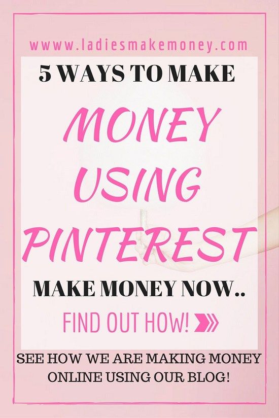 5 Ways to make money using Pinterest the easy way.