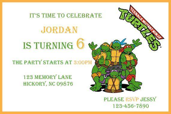 Teenage Mutant Ninja Turtle Invitations