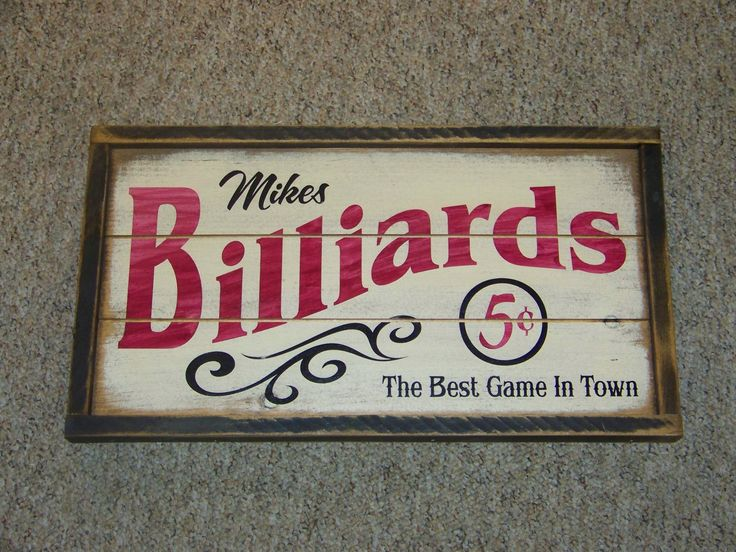 Personalized Billiards Sign. $29.95, via Etsy.