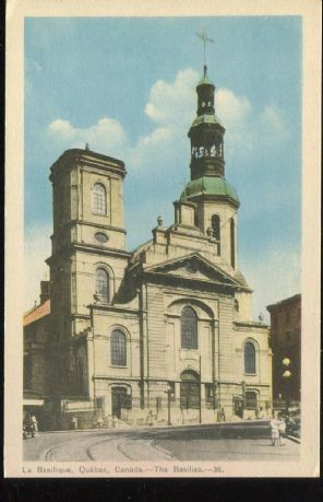 Photogelatine Engraving Co Postcard, La Basilique, Quebec, Canada, The Basilica, 36