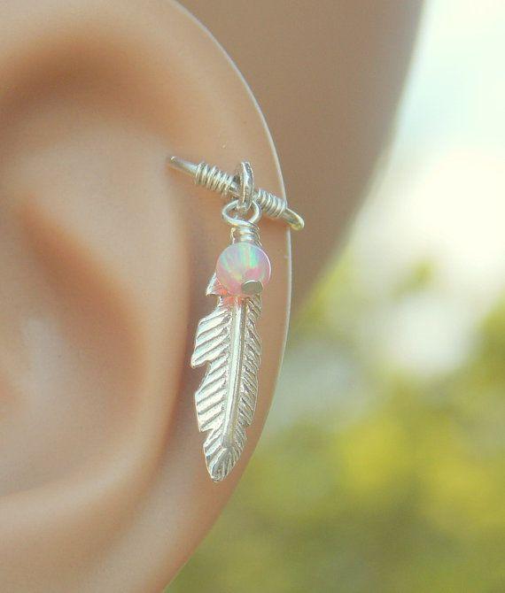 Tribal veer kraakbeen earring piercing veer door sofisjewelryshop