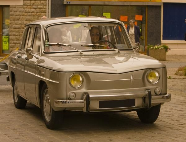 Renault R8, Vintage French car. Given a Renault for 16th birthday about 54 years ago by my Dad. Didn't look like this-much smaller.