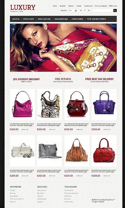 Luxury Handbag PrestaShop Themes by Di