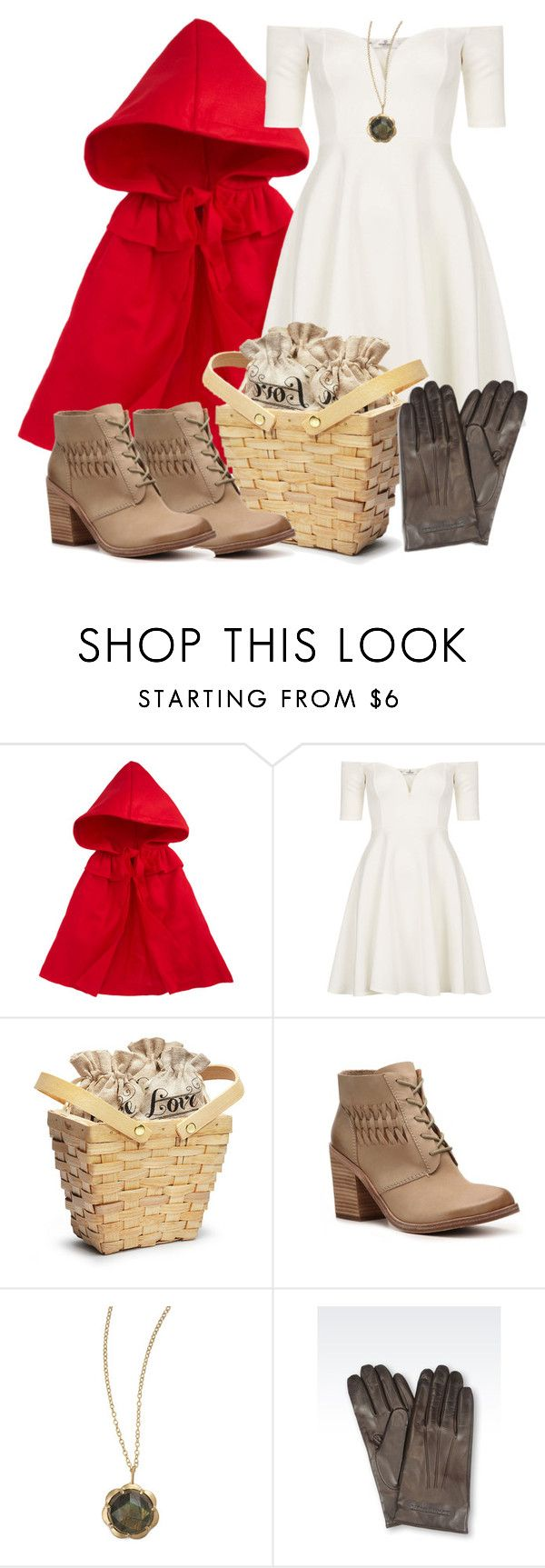 """Lydia Inspired Halloween Costume (Little Red Riding Hood)"" by veterization ❤ liked on Polyvore featuring Siaomimi, Oh My Love, Modern Vintage, Jamie Wolf and Emporio Armani"