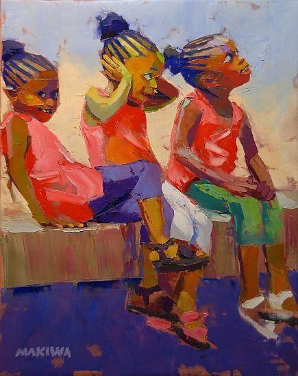 """The Naughty Girls"" (so adorable...) | by Makiwa Mutomba, Zimbabwean/South African artist"