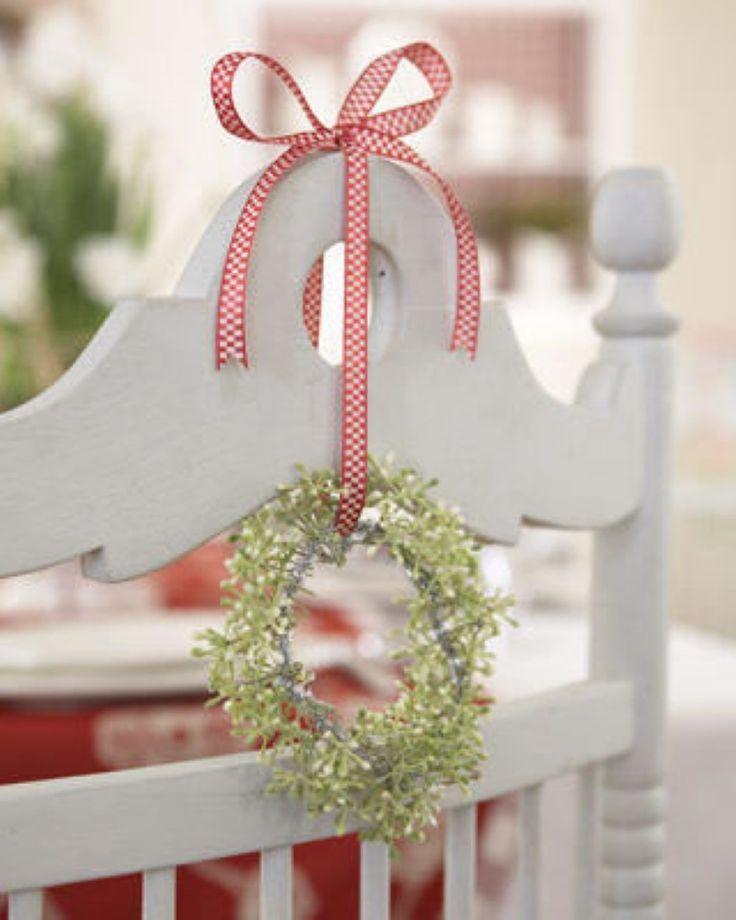 Silla decorada para navidad de manera facil