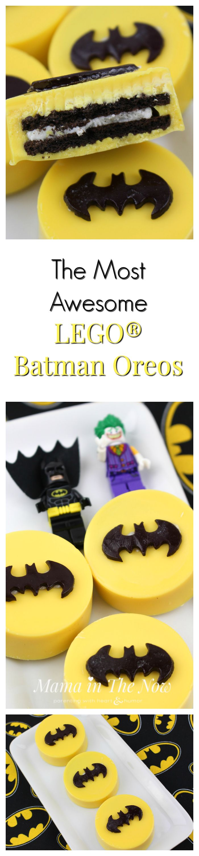 DIY : LEGO Batman Oreo in the Group Board ♥ CREATIVE and ORIGINAL FOOD (KIDS preferably) http://www.pinterest.com/yourfrenchtouch/creative-and-original-food-kids-preferably