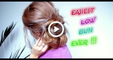 LATE HAIRSTYLE LOW BUN FOR SCHOOL OR WORK EASY TO RUN, #work #Bun #simple # for ...