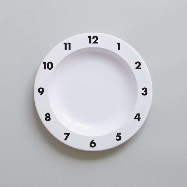 Buddy and Bear Dinner Time Clock Plate