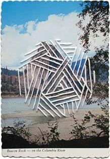 Shaun Kardinal, Alteration no. 46, hand embroidered postcard, 4 x 6 inches