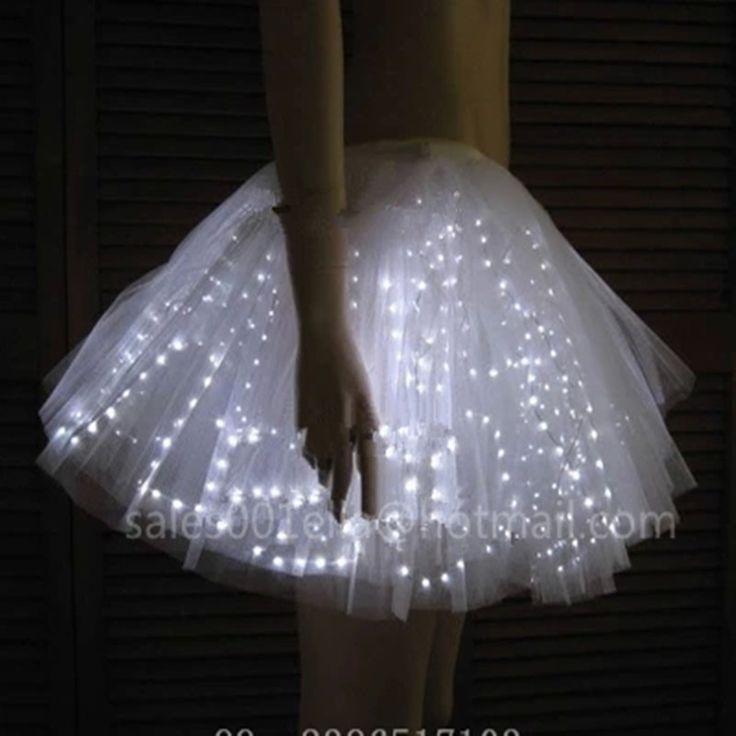 Led luminous wedding dress