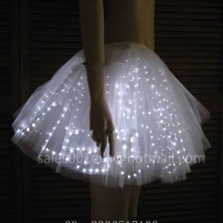 Led luminous wedding dress