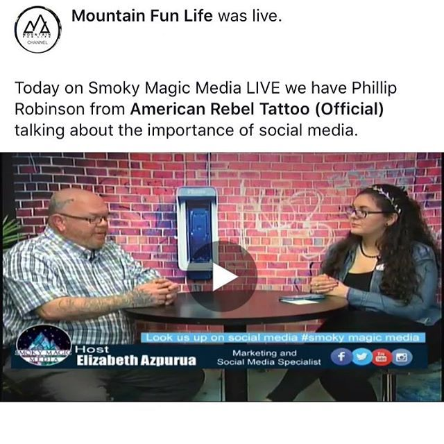 Got To Interview Badwolftattoos On Mountainfunlife Smokymagicmedialive About Americanrebeltattoos In Pigeonforge Americanreb Social Media Marketing Companies Media Specialist Social Media