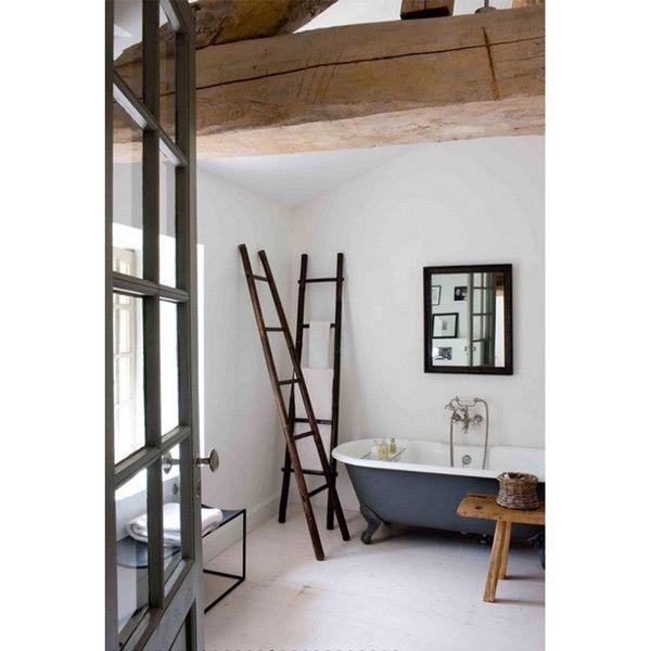 Black bamboo decorative ladder bath pinterest - Decorative ladder for bathroom ...