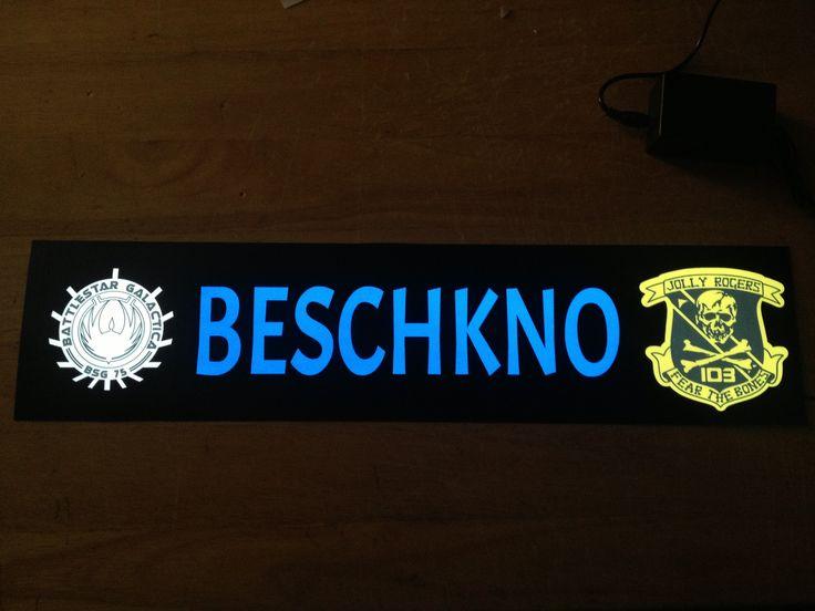 Plaque prénom routier Beschkno