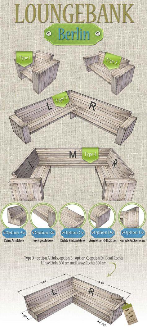 Bauholz Lounge bank 'Berlin'. Das Bauholz (Gerüstholz) das wir verwenden, sind Recycled Bauholzbretter. Wir stellen unsere Bauholz-Möbel aus verwendeten und neuen Bauholz her. Bauholz bekommt beim Hausundgartenmoebel.com ein zweites Leben! Die Optik von ein Bauholz Möbel ist rustikal, back-to-basic und autentisch. www.hausundgartenmoebel.com