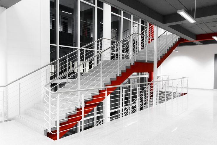 Modern stairs in the hospital by Paweł Chrząszczewski on tookapic