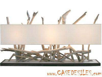 17 meilleures id es propos de bois flott pas cher sur for Lampe de chevet en bois flotte pas cher
